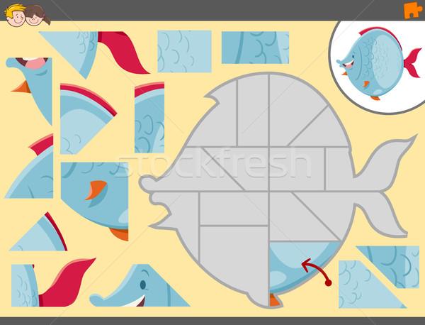 Kirakós játék tevékenység játék rajz illusztráció oktatási Stock fotó © izakowski