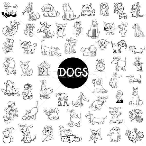dog characters large set Stock photo © izakowski
