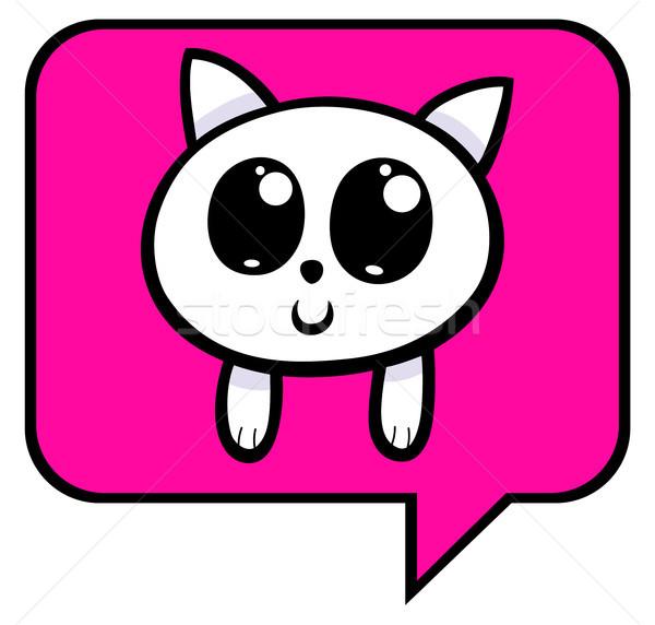 cartoon kitten chat icon Stock photo © izakowski