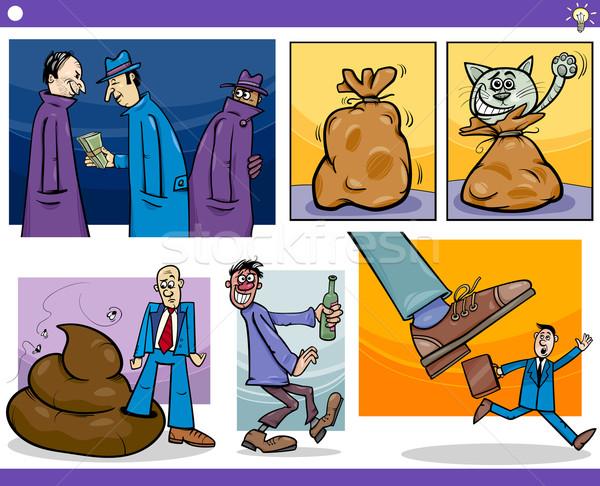 漫画 考え セット 実例 ユーモラス ストックフォト © izakowski