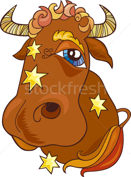 Stock photo: Zodiac taurus sign