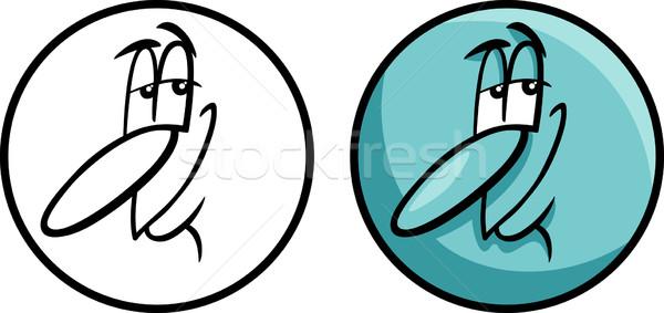 文字 顔 漫画 実例 面白い コミック ストックフォト © izakowski
