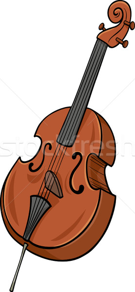 double bass cartoon clip art Stock photo © izakowski