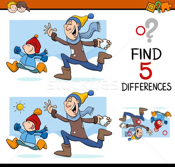 Diferenças atividade tarefa desenho animado ilustração Foto stock © izakowski