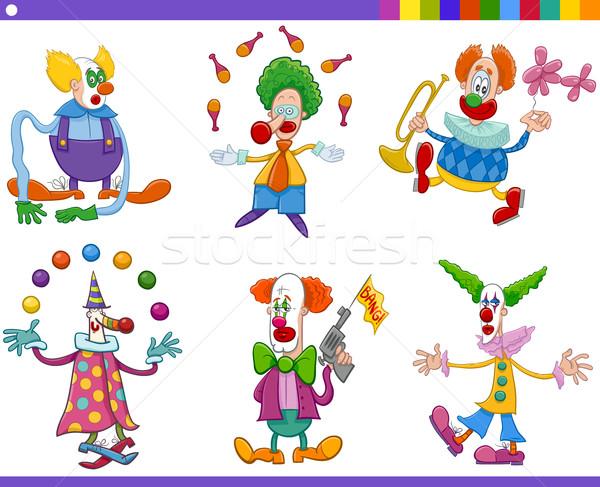 circus clowns collection Stock photo © izakowski