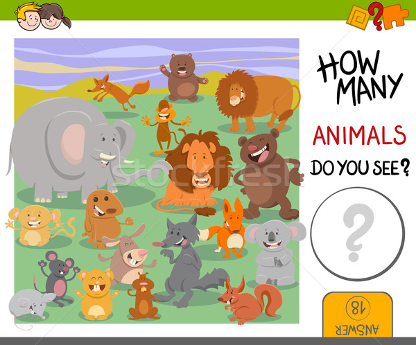 how many animals game Stock photo © izakowski