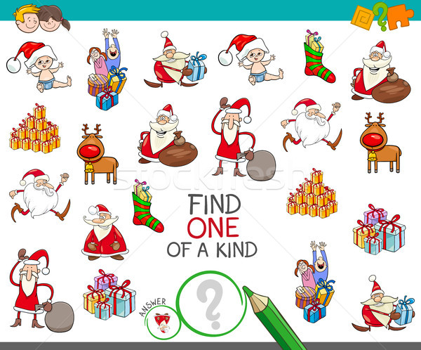 Christmas one of a kind cartoon game Stock photo © izakowski