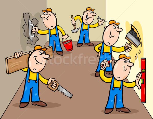 マニュアル 労働 グループ 漫画 実例 ストックフォト © izakowski