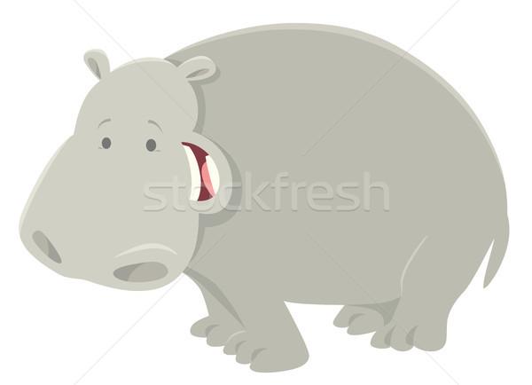 Komik karikatür suaygırı hayvan karakter örnek Stok fotoğraf © izakowski