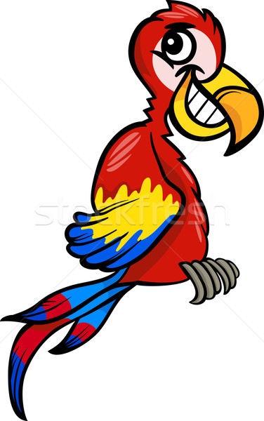 macaw clip art cartoon illustration Stock photo © izakowski