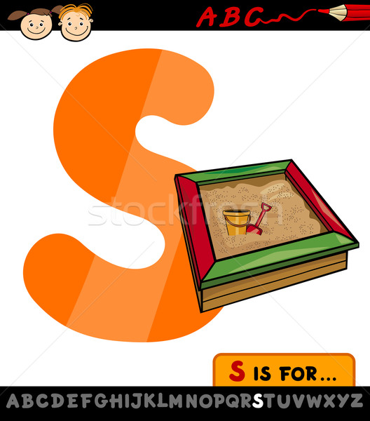 letter s with sandbox cartoon illustration Stock photo © izakowski