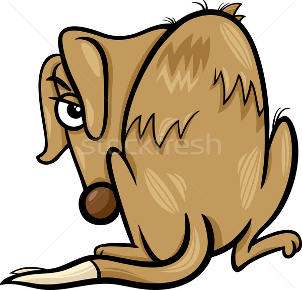 Arme daklozen hond cartoon illustratie helpen Stockfoto © izakowski