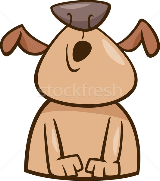 mood howl dog cartoon illustration Stock photo © izakowski