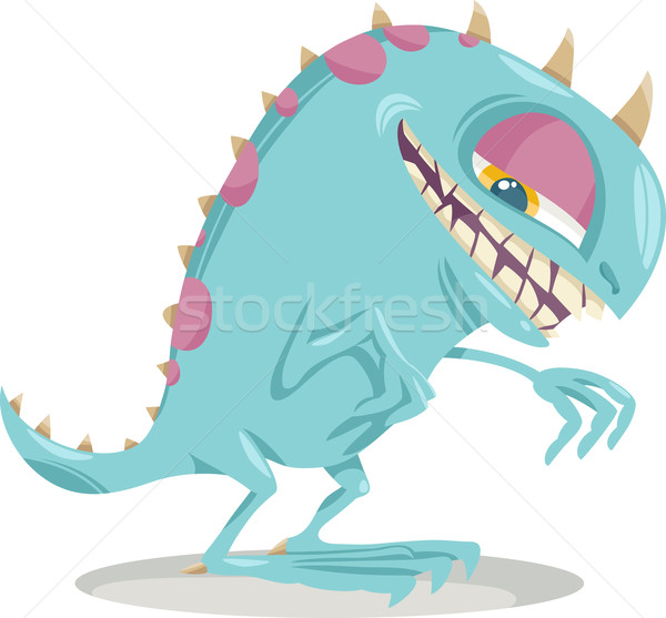 Fantasie monster cartoon illustratie grappig schrik Stockfoto © izakowski
