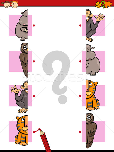 教育 ゲーム 漫画 実例 マッチング 幼稚園 ストックフォト © izakowski