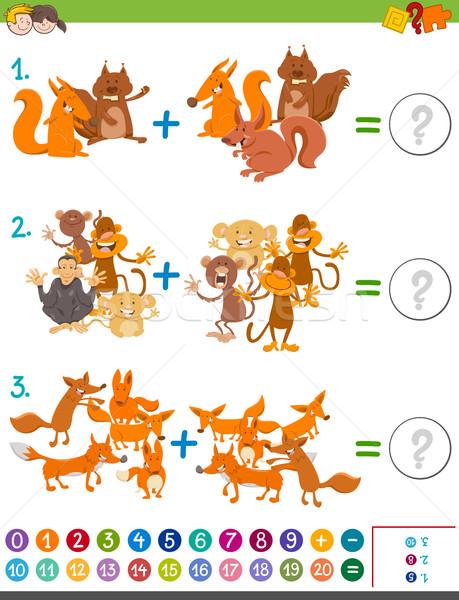 addition maths game for kids Stock photo © izakowski