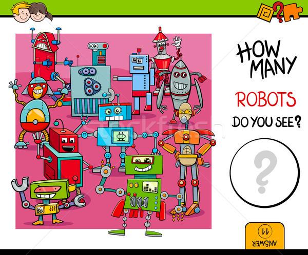 Robots educativo juego ninos Cartoon ilustración Foto stock © izakowski