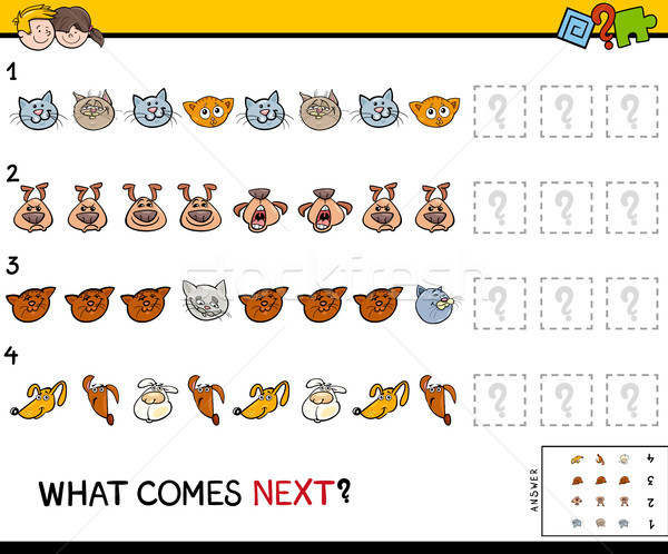 complete the pattern with pets game Stock photo © izakowski