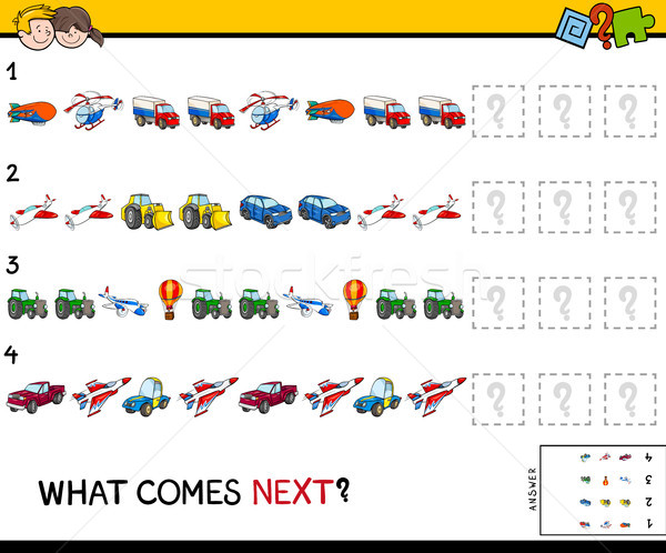 complete the pattern with vehicles game Stock photo © izakowski