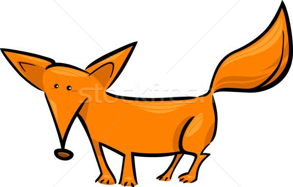 Cartoon иллюстрация красный Fox болван Cute Сток-фото © izakowski