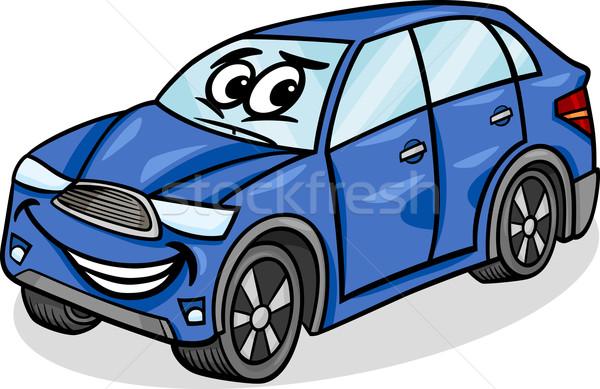 Suv carro desenho animado ilustração engraçado Foto stock © izakowski