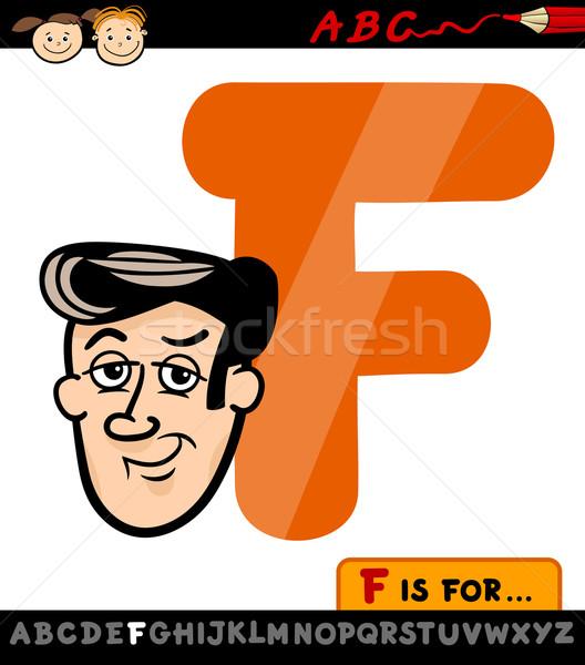 letter f with face cartoon illustration Stock photo © izakowski