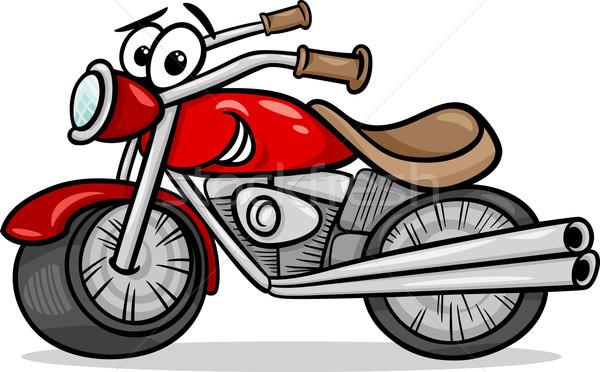 bike or chopper cartoon illustration Stock photo © izakowski