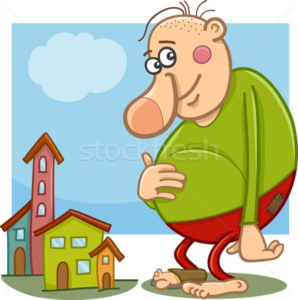 óriás fantázia karakter rajz illusztráció vicces Stock fotó © izakowski