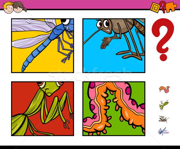 activity game with insects Stock photo © izakowski