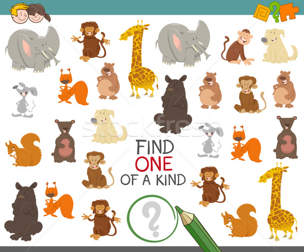 one of a kind game with animals Stock photo © izakowski