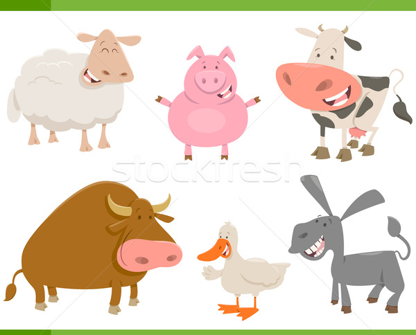 farm animal characters set Stock photo © izakowski