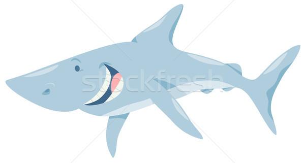 Cartoon rekina ryb zwierząt charakter ilustracja Zdjęcia stock © izakowski