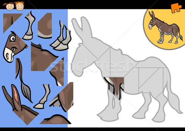 漫画 ファーム ロバ パズル ゲーム 実例 ストックフォト © izakowski