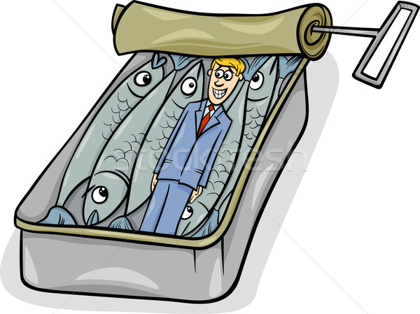 packed like sardines saying cartoon Stock photo © izakowski