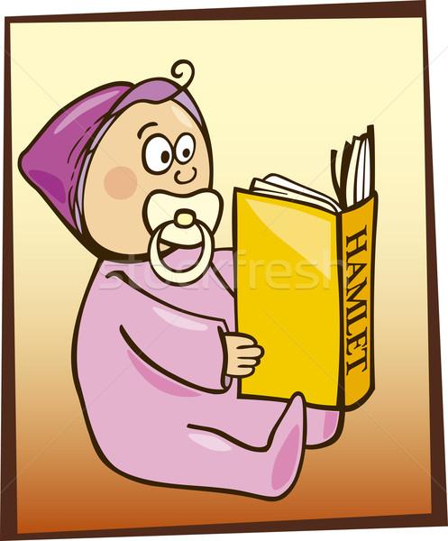 Baby reading Hamlet Stock photo © izakowski