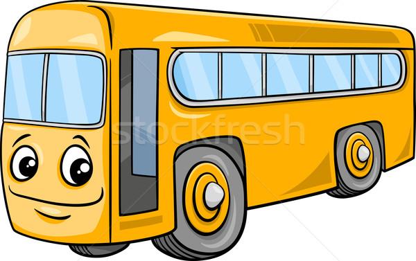 bus character cartoon illustration Stock photo © izakowski