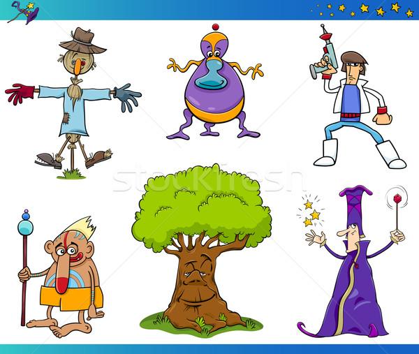 fantasy cartoon characters set Stock photo © izakowski