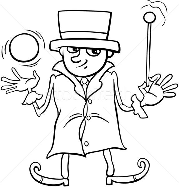 wizard or elf coloring page Stock photo © izakowski