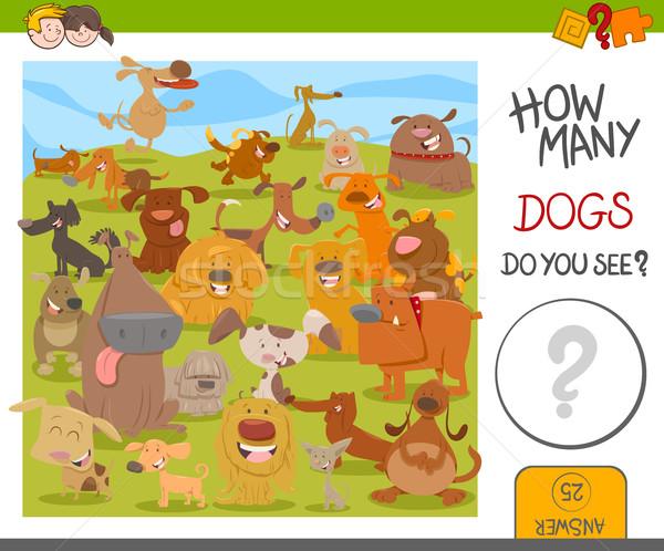 count the dogs game Stock photo © izakowski