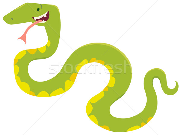 Cartoon serpent animaux personnage illustration cute Photo stock © izakowski