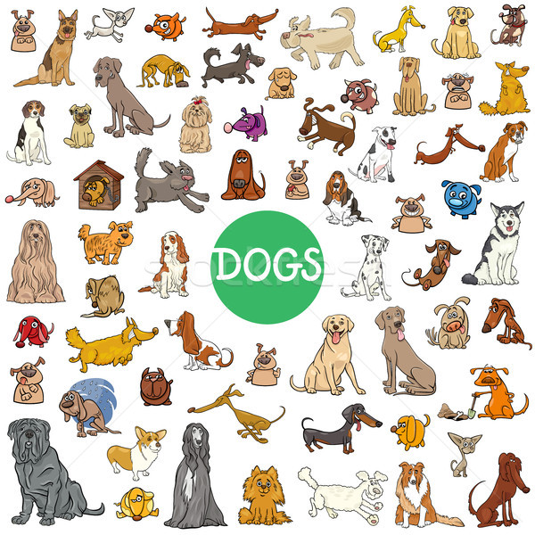 cartoon dog characters large collection Stock photo © izakowski