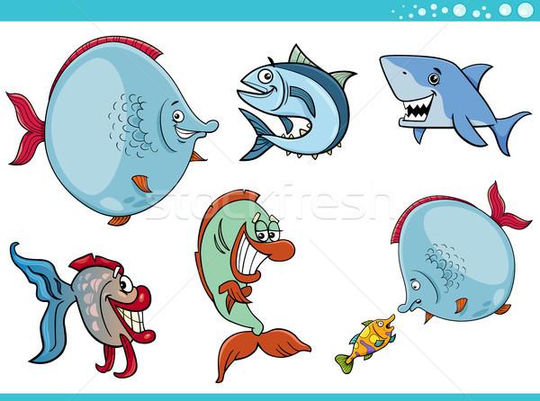 sea life fish characters collection Stock photo © izakowski