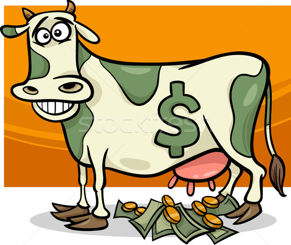 cash cow saying cartoon illustration Stock photo © izakowski