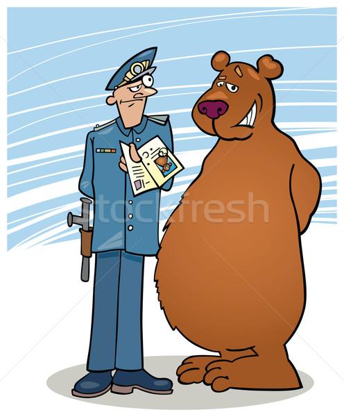 Bear and policeman Stock photo © izakowski