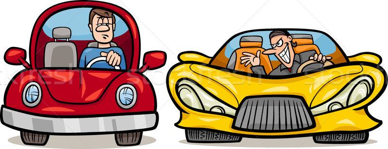 malicious driver cartoon illustration Stock photo © izakowski