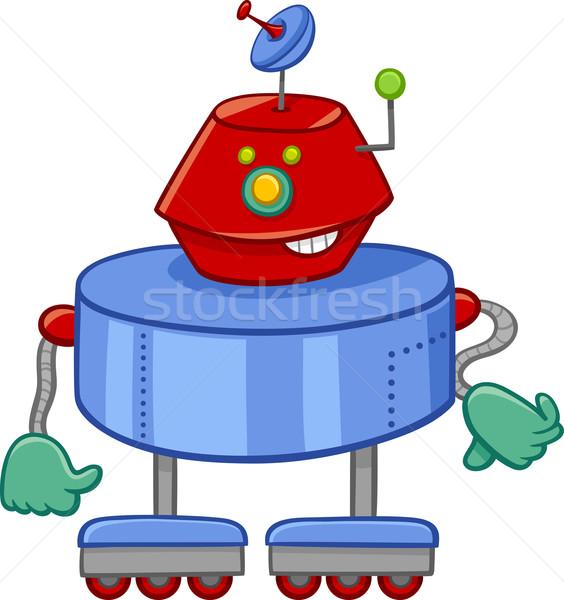 Drôle robot cartoon illustration personnage Photo stock © izakowski