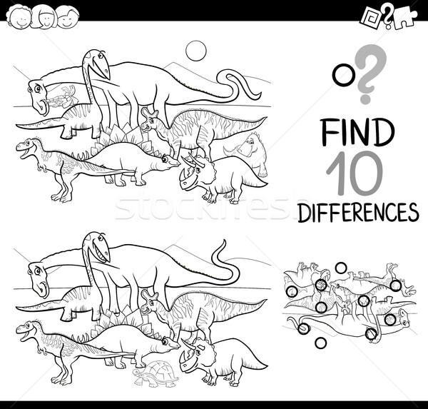 違い ゲーム 黒白 漫画 実例 ストックフォト © izakowski