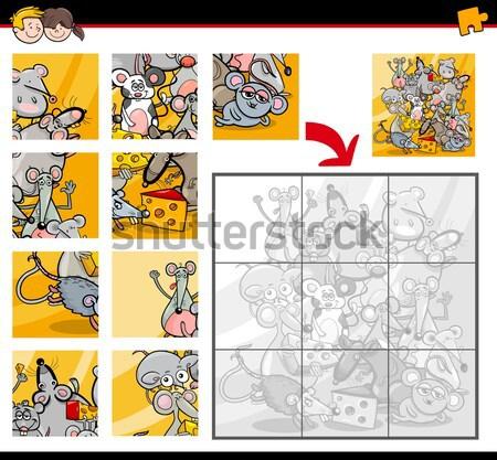 jigsaw puzzle with robots Stock photo © izakowski