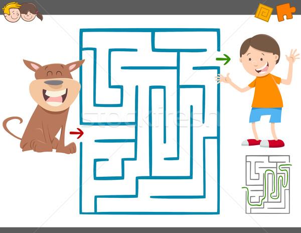 Сток-фото: лабиринт · отдыха · игры · дети · Cartoon · иллюстрация