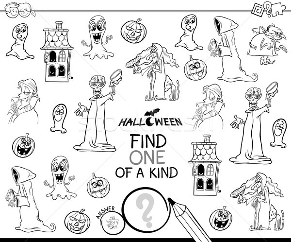 find one of a kind Halloween character color book Stock photo © izakowski